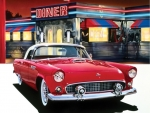 Ford Thunderbird '55 at The OK Diner
