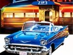Chevrolet Bel Air '57 at Zip's Diner