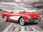 1959 Corvette on Route 66