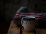 Coffee and a plaid
