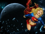 Supergirl & Asteroids