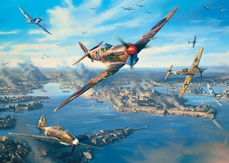 Fortress Malta - battle, malta, fighters, island, planes