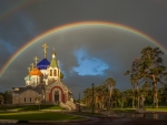 Church under Rainbow