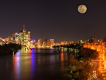 Full Moon Above the City