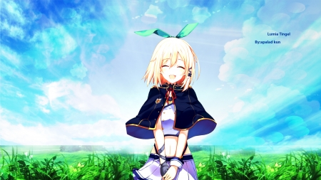 anime girl for your desktop - skybg, beautiful, girl, anime