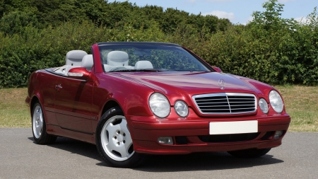 Red Mercedes Cabrio - Mercedes, Red, Cars, Cabrio, Expensive