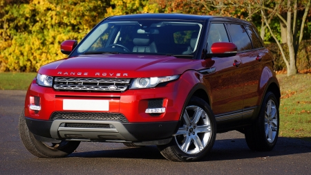 Red Range Rover - Red, Rover, Cars, Four wheel drive, Range