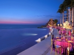 Tropical Resort at Twilight