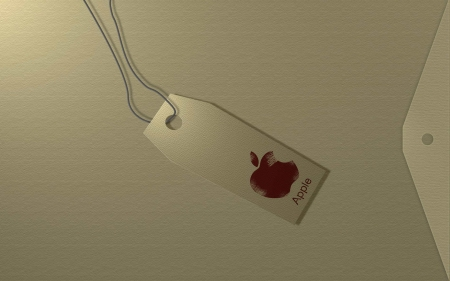 apple tag - apple, tag, string, envelope