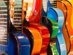colourful guitars