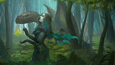 Dragon Girl Fantasy Amp Abstract Background Wallpapers On