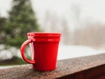 Red Mug with coffee