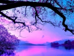 Purplish Blue Landscape