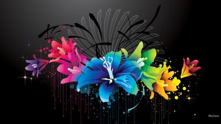 Bright Floral Vector Flowers Nature Background Wallpapers On Desktop Nexus Image 2357543