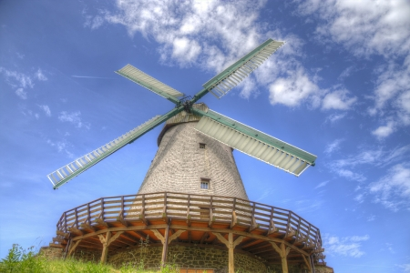Windmill - Architevture, Mill, Arvhitecture, Windmill, Clouds, Sky