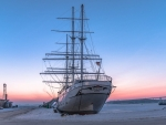 Sailing Ship in Winter