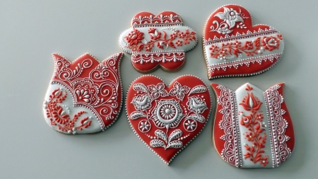 Hungarian Gingerbread Cookies Photography Abstract Background