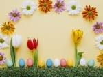 Easter Eggs ~ Spring Flowers