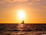 Sailing at sundown