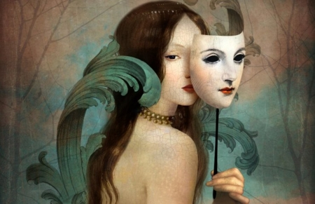 Carnival - retro, art, carnival, paintings, beauty, mask, vintage