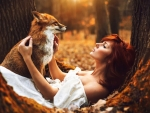 Redhead and Red Fox