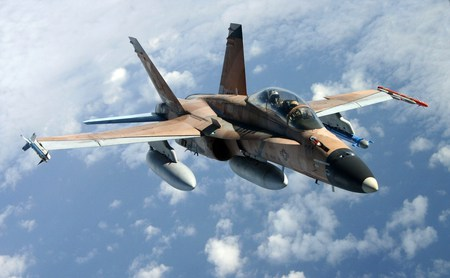 F/A-18B HORNET - f18, fighter, recon, military, blueskies, jet, hornet