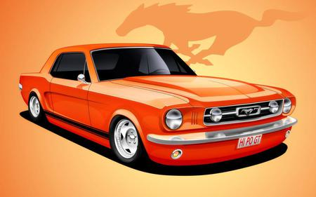 Ford Mustang ART - art, ford