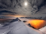 Moon Over The Snowy Mountains