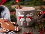 Hot Chocolate And Gingerbread Man