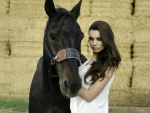 Beautiful Woman & Her Horse