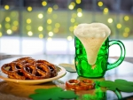 Green Beer & Pretzels