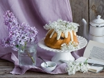 MORNING TEA WITH LILACS