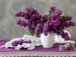 LILACS ON TABLE