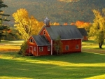 Red Schoolhouse on the Greenery