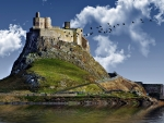 Lindisfarne Castle on Holy Island,England