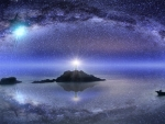 The Starry Sky of East Pole Island,Taiwan