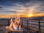 Sunset Cowgirl . .