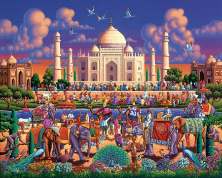 Taj Mahal 3d And Cg Abstract Background Wallpapers On Desktop