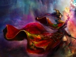 Sorceress in Red Cloak