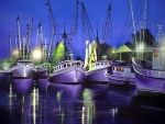 Purple Boats