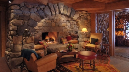 fireplace - brown, architecture, interior, beauty, houses, photography