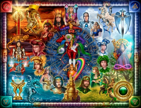 Tarot Card Reading Fantasy Abstract Background Wallpapers On