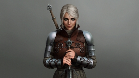 Ciri - armor, fantasy, luminos, girl, the witcher, astoralexander, ciri