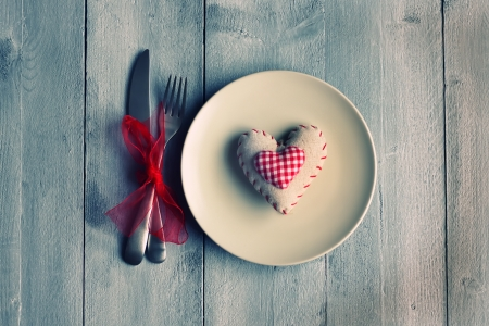 ♥ - abstract, love, cutlery, heart