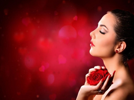 Pretty woman - Girl, Model, Rose, Photography