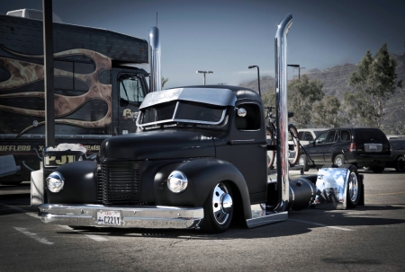 Cool and Low - photo, semi, custom, truck, lowrider, chrome