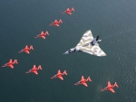 Avro Vulcan With The Red Arrows
