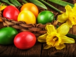 Easter Eggs & Daffodils