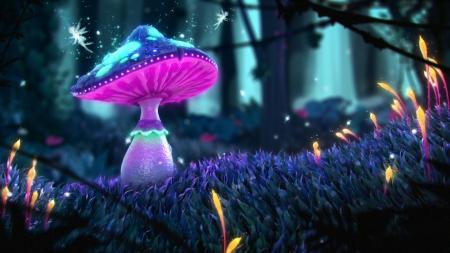 Magical Mushroom Fantasy Amp Abstract Background
