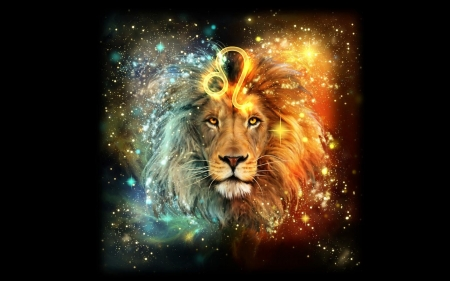 Zodiac Leo Fantasy Abstract Background Wallpapers On